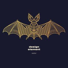 Vector image of decorative animal bat.