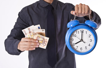 businessman with money and watch