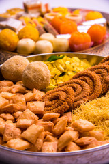indian sweet food consumed in festivals like diwali, holi, dussehra, gudhi padwa or weddings