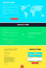 Set of contact form for Website. Registration contact form. Template for website. Feedback form. Vector illustration