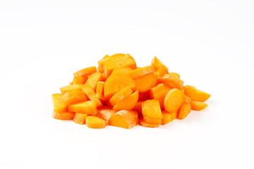 heap of chopped carrot