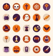 Halloween Flat Elements : Vector Illustration