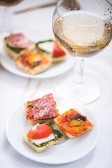 spanish or italian snack antipasti