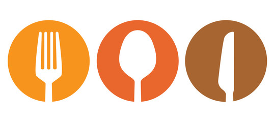 Spoon fork and knife besteck vector