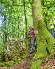 Spaß beim Wanderausflug im Abenteuerwald