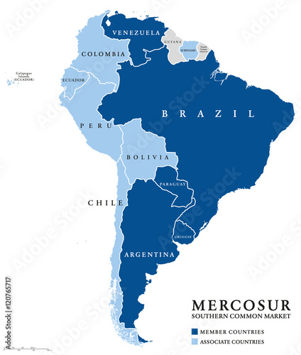 USAN, Union of South American Nations map, an intergovernmental ...