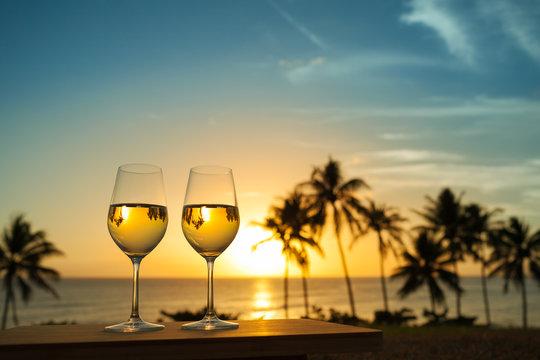 Love honeymoon a beach vacation concept.