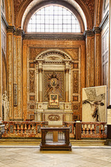 ROMA, ITALY, APRIL 11, 2016 : Interiors and architectural detail