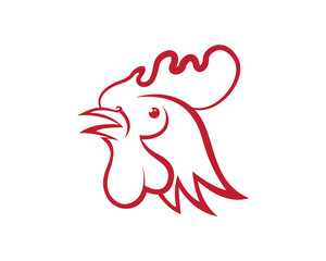 Year 2017 symbol rooster