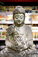 Budda stone monument.
