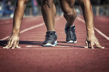 Sport. Unrecognizable runner on the starting