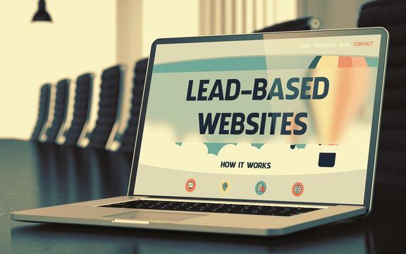 Lead-based Websites Concept on Laptop Screen. 3D Illustration.