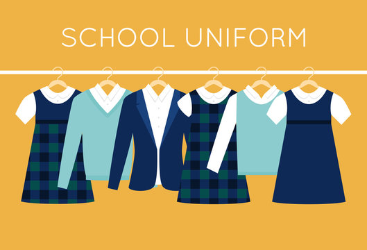 School Uniform for Children and Teenagers on Hangers