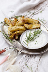 Potatoe Wedges mit Dip