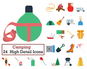 Set of 24 Camping Icons