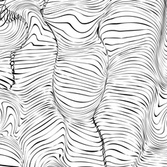 Abstract wavy striped background for your creativity