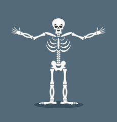 Happyl skeleton stretched out his arms in an embrace. Good-natur