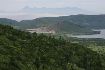 Kunasir Kurils islands Rocks Russia