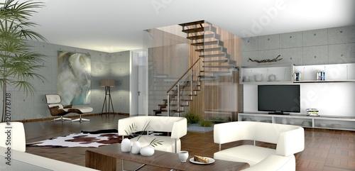 offenes wohnzimmer stockfotos und lizenzfreie bilder auf bild 120778718. Black Bedroom Furniture Sets. Home Design Ideas
