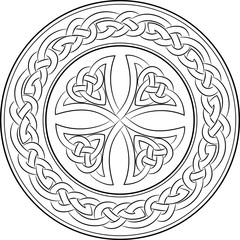 Celtic knot cross in wreath