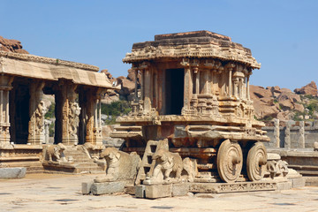 Stone Chariot in Vittala Temple, Hampi, India