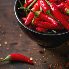 Canvas Prints Hot chili peppers Heap of red hot chili peppers