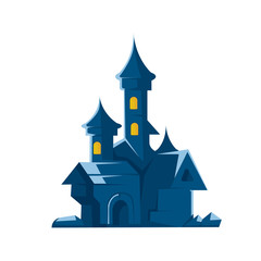 Dark castle of vampires. Vector illustration on white background