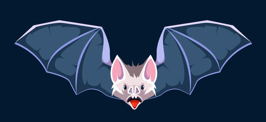vector cartoon illustration of Bat.