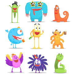 Monsters Having Fun At The Party