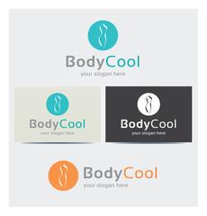 Logo Corps Forme Beauté Esthétique Carte de Visite et Charte Graphique Entreprise Plusieurs Couleurs