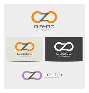 Logo Lettres O et Z Carte de Visite et Charte Graphique Entreprise Plusieurs Couleurs