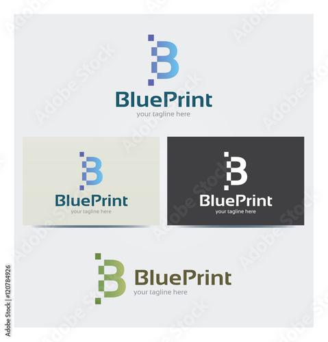 Logo Lettre B Carte De Visite Et Charte Graphique Entreprise Plusieurs Couleurs