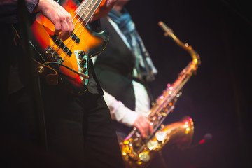 Guitar player and saxophonist