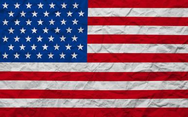 grunge paper American USA flag
