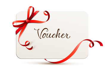 card with bow - voucher