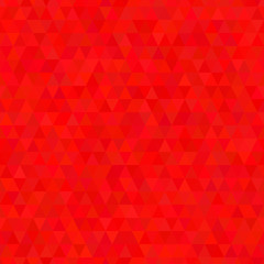 Red triangle geometric seamless pattern