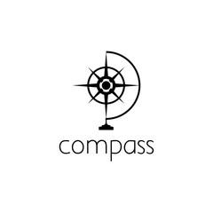 compass logo graphic design concept