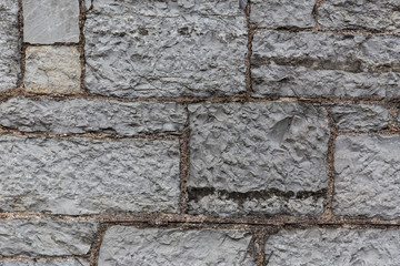 close up of old brick or stone wall background