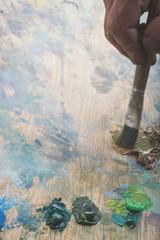 artist paint background