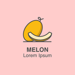 Melon vector icon made in flat style.