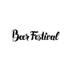 Beer Festival Lettering Card