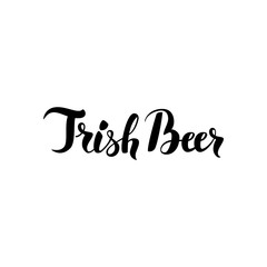 Irish Beer Lettering
