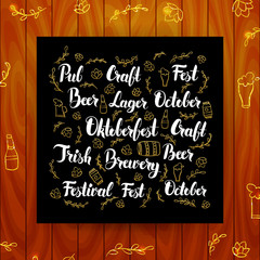 Oktoberfest Greeting Calligraphy