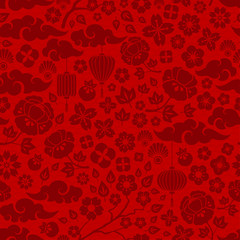 Red Chinese Seamless Pattern