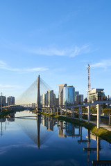 Estaiada Bridge Sao Paulo Brazil