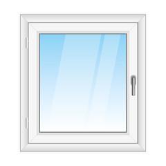 White PVC vector window
