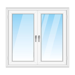 White PVC vector window
