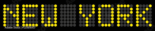 New york ziel gelbe punkte tafel fichier vectoriel libre for Gelbe tafel