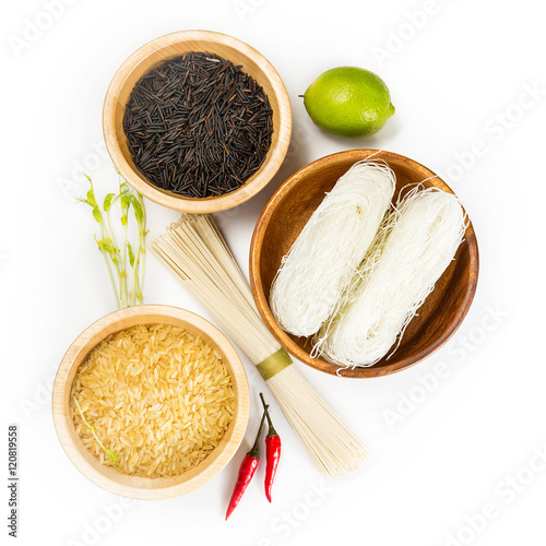 ingredients for asian cuisine stock photo and royalty