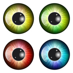 eye, pupil, iris, vector symbol icon design. Beautiful illustrat